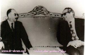 الدكتور اكرم نشات ابراهيم مع الرئيس احمد حسن البكر