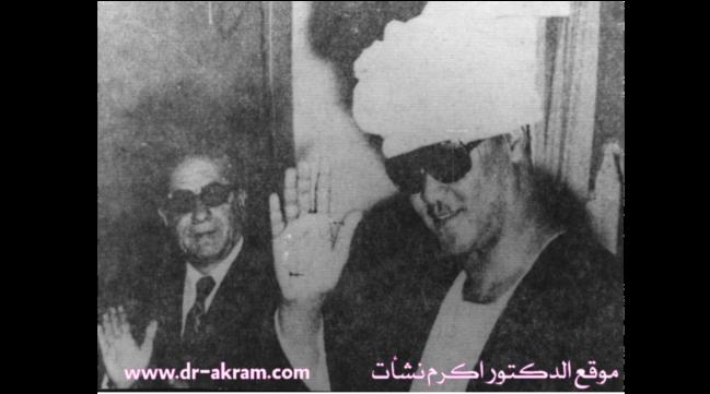 الدكتور اكرم نشات ابراهيم مع الرئيس السوداني جعفر النميري سنة 1975