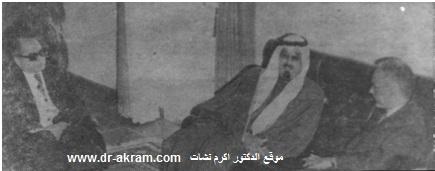 الرئيس الموريتاني مختار ولد داده عند استقباله الدكتور اكرم نشات ابراهيم والسيد علي الانصاري
