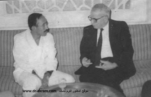 السيد غالب القمش وزير الداخلية والأمن بالجمهورية العربية اليمنية في حديث مع الدكتور اكرم نشات ابراهيم