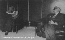 الشيخ نواف الأحمد الجابر وزير الدفاع بدولة الكويت في حديث مع الدكتور اكرم نشات ابراهيم