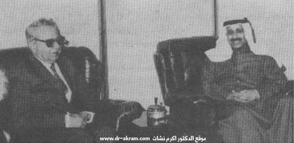 الشيخ سالم الصباح وزير الداخلية بدولة الكويت في حديث مع الدكتور اكرم نشات ابراهيم